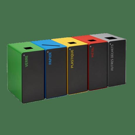 CUBATRI - Poubelles tri sélectif design pour entreprise